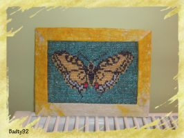 Beaded butterfly picture by Badty92