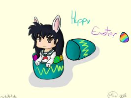 Happy Easter!-Kagome by Loli-Lola