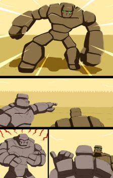 Mike into Golem TF Comic page 26 by whiteguardian