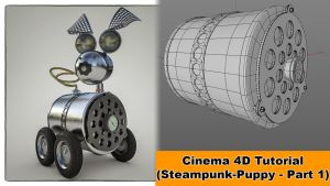 Steampunk Puppy - Part 1 (Cinema 4D - Tutorial) by NIKOMEDIA