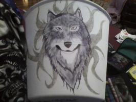 trash can wolf by KPRITCHETT14