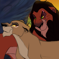 Scar and Zira by VlalizaVladaRose