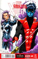 Nightcrawler and Psylocke by ToddNauck