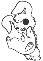 :Free Use Bunny Lineart: by PrePAWSterous