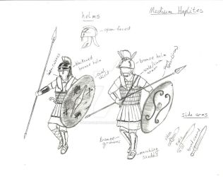 Medium Hoplites by introvertedchaos