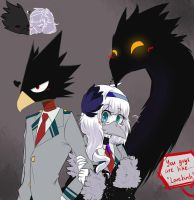 Lovebirbs in U. A. Highschool by SkitzOpheliac