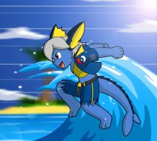 Duo2nd Surfs up by Coshi-Dragonite