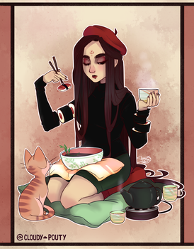 Sushi Girl by cloudypouty