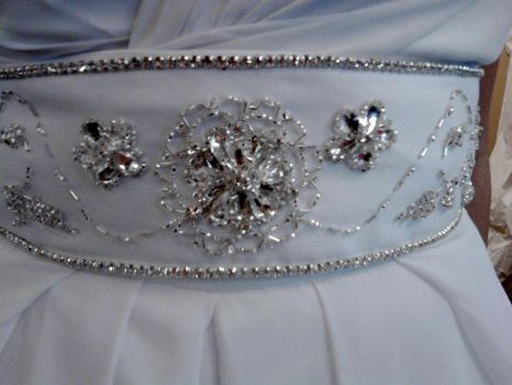 Beaded Wedding Belt:New 1 by phantomonex