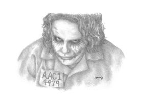 The Joker Blogs Portrait Drawn by mldrfan