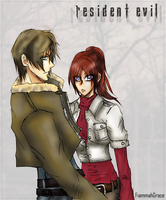 Resident Evil Leon and Claire by FiammahGrace