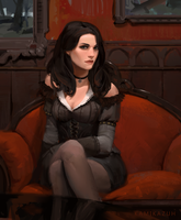 Yennefer of Vengerberg by Kamikazuh
