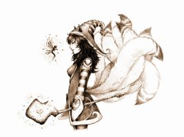Ahri - The Fae Sorceress by BannanaPower