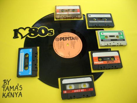 i love 80's cassettes by tamas kanya by tom-tom1969