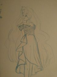 Drew my bab in a dress by leafpoolTC