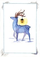 Winter deer by HeartSoulLifePassion