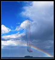 As two rainbows cross by MessiahKhan