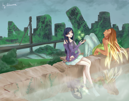Butterflies And Hurricanes (Flora and Helia) by Lonome