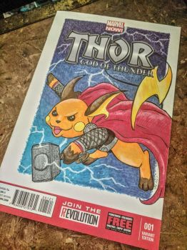 Custom Comic Book Cover: Rai-Thor by benwhoski