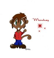Chibi Monkay for Kiwi by sindra