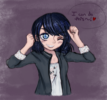 . : Marinette doodle  : . by Aviditty