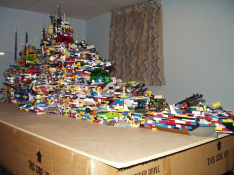 My Huge Lego Ship - Front Side by best360