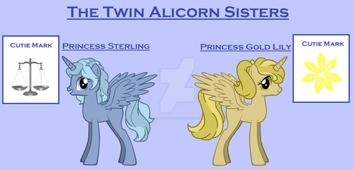 The Twin Alicorn Sisters by ReddRedPanda