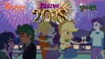 New Year in Canterlot High (New Year 2018 Special) by hectorcabz