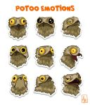 Potoo Emotions by AtreJane