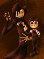 Ink Demon and Bendy by Joysanni