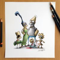 Simpsons Creepy Drawing by AtomiccircuS