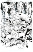 Red Sonja cover -INKs by aethibert