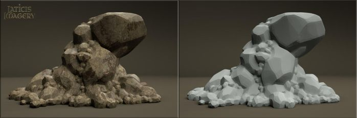 Laticis Imagery FREE Object - Rock Ledge by Laticis