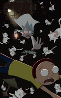 Rick and Morty in space by RikawawaArt