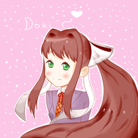 monika doki doki literature club by yumethenekomata
