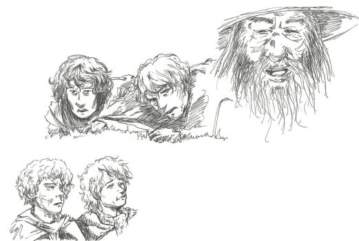 Tricksy Hobbitses (and some guy made of magic) by SinclairSolutions42