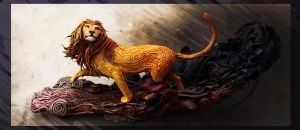 Lion and shadows by hontor