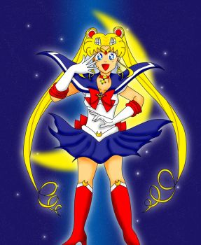 The Pretty Guardian in a Sailor Suit by trinityrenee