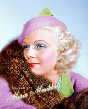 Jean Harlow ~~1930s ~~ colourised by Maria-Musikka