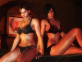Resident evil wallpaper - Jill and Ada by ethaclane