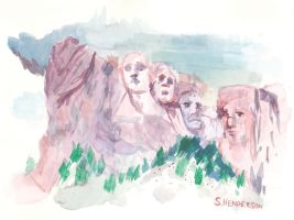 mt. rushmore vignette by shane613