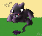 Toothless and fishy by Tomthebaker