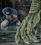 Batman v. Killer Croc by thedavemyers