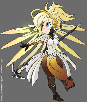 Mercy Overwatch by Zombies-Pudding