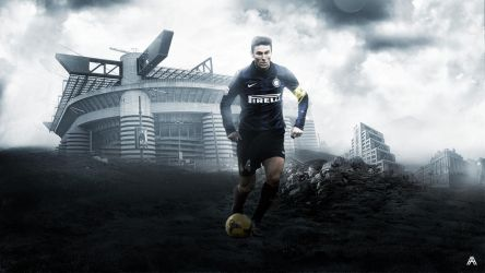 Javier Zanetti Wallpaper by AlbertGFX