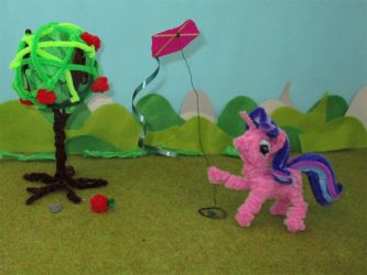 Pipe cleaner Starlight kite flying animation by Malte279