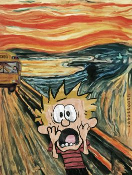 The Back to School Scream (Calvin / Munch) by Rabittooth