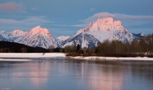 Alpenglow on Mt. Moran by TerribleTer