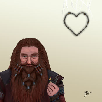 Hobbit Valentines ~ Gloin by Contraltissimo