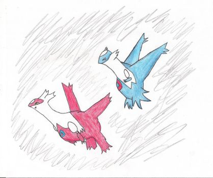 Latios and Latias by Rpshadow100
